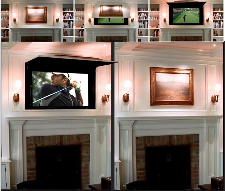 Tv Cover Ups Hide Your Flat Screen Behind Either A Panel Or Work Of Art