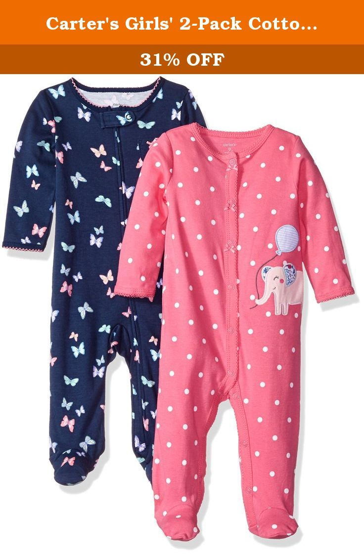 50c1b08ef Carter s Girls  2-Pack Cotton Sleep and Play