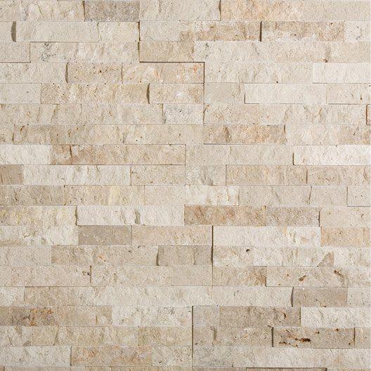 plaquette de parement pierre naturelle beige nora ma maison pinterest parement pierre. Black Bedroom Furniture Sets. Home Design Ideas
