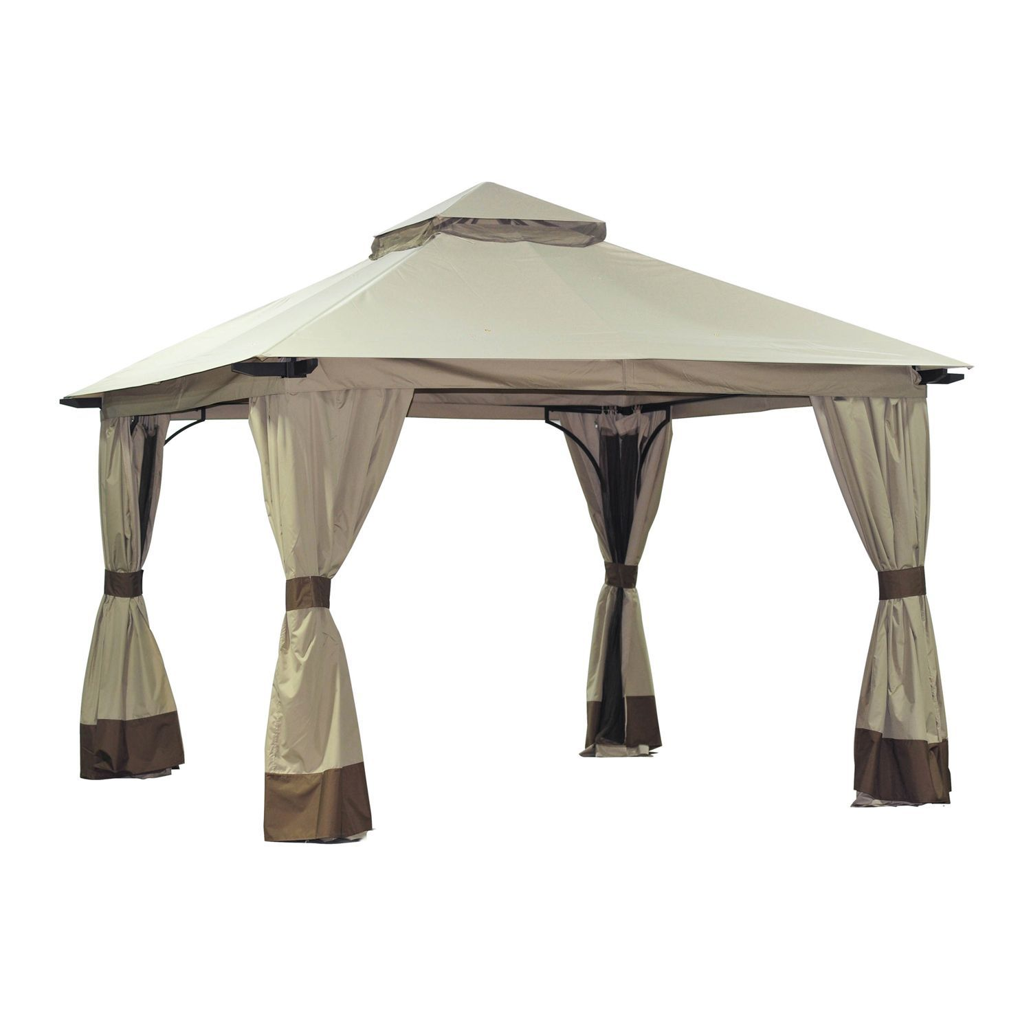 Tan brown gazebo replacement canopy covers privacy curtains canopies outdoor rooms