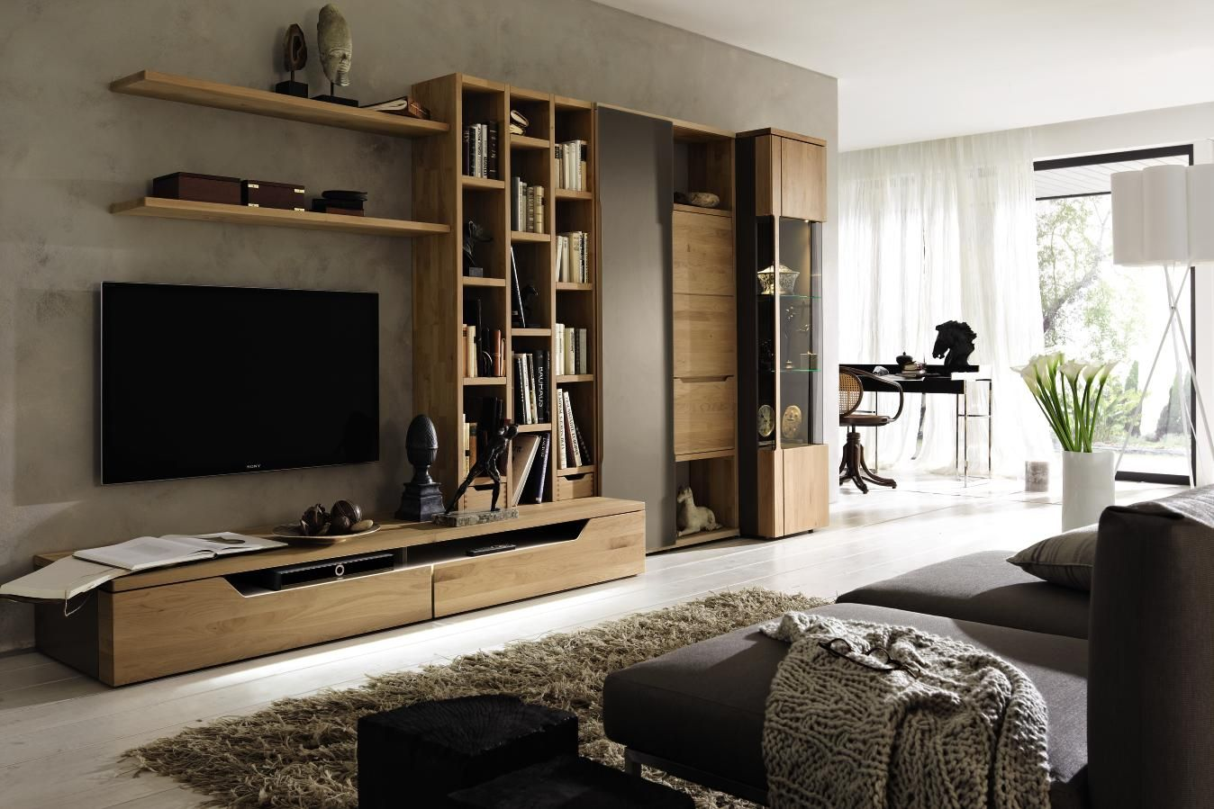 s jour carva h lsta laqu cacao aulne massif ch ne nature massif meuble tv biblioth que bahut. Black Bedroom Furniture Sets. Home Design Ideas