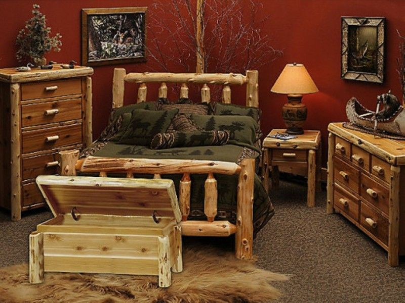 Awesome Cedar Red Bedroom Furniture