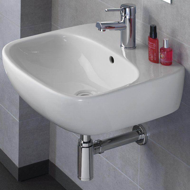 "Bissonnet Moda 20"" Wall Mount Bathroom Sink  Wayfair  Buena Best Wayfair Bathroom Sinks Decorating Inspiration"