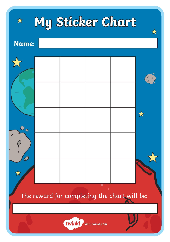 بطاقات تحفيزية لتشجيع السلوك الايجابي في الصف عند الاطفال Sticker Chart Chart Names