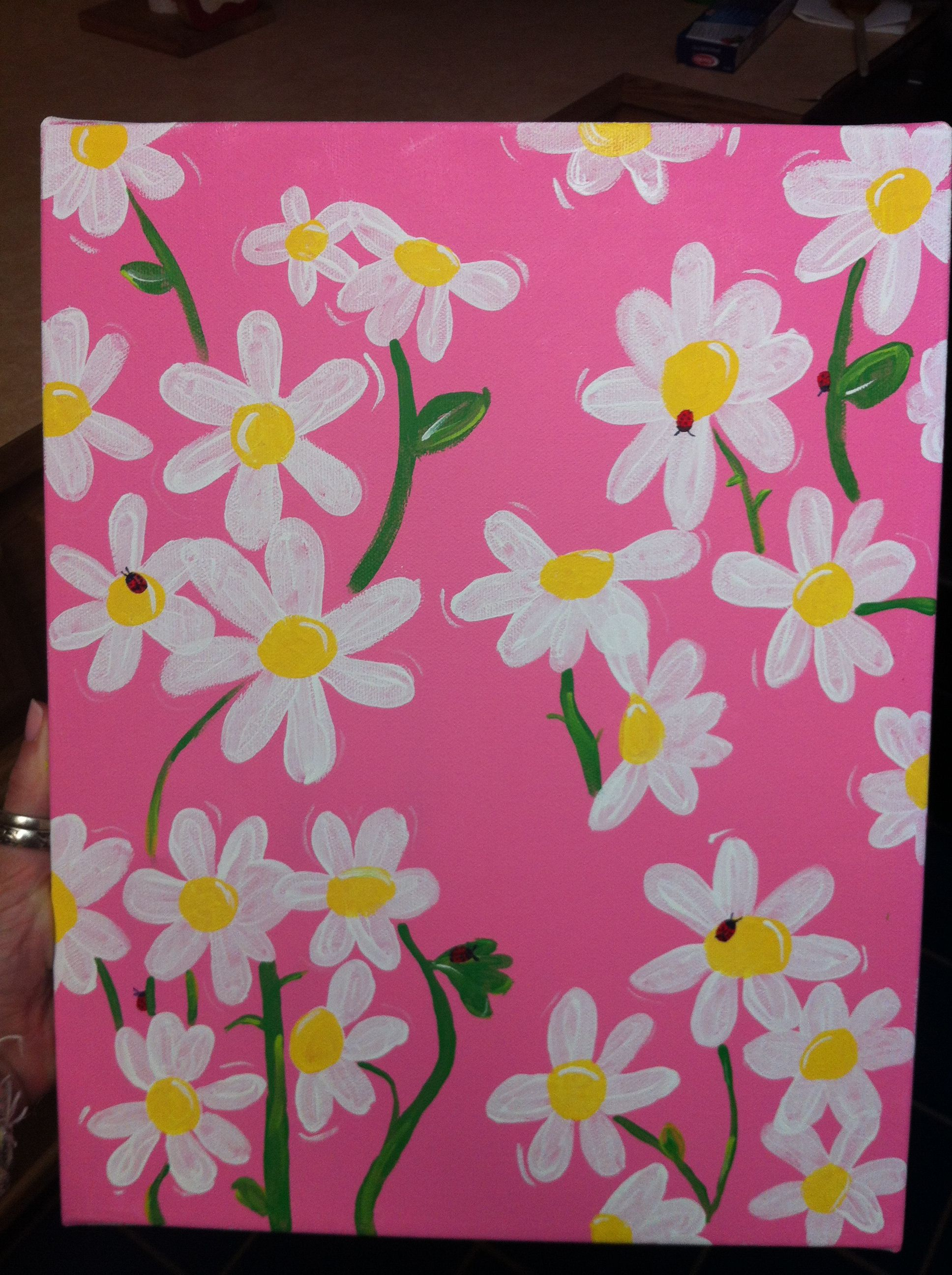 Lilly Pulitzer Daisy Painting | Craft Ideas | Pinterest