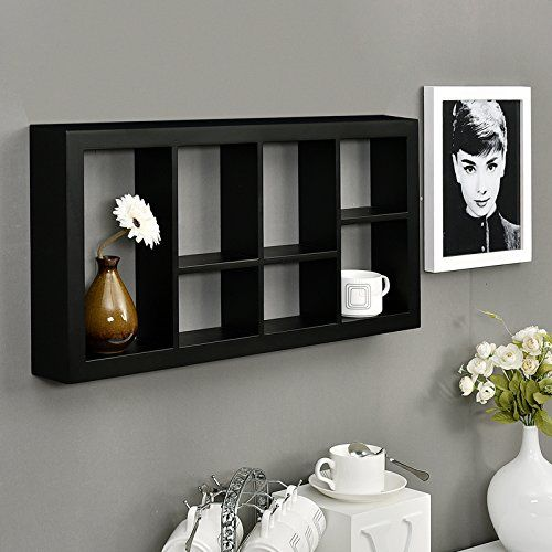 Welland Taylor Display Floating Shelves Decorative Cube Wall Shelf 24 W X 3 D X 12 H Black Cube Wall Shelf Floating Shelves Break Room Decor