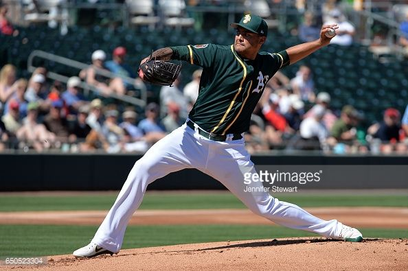 News Photo : Sean Manaea of the Oakland Athletics delivers a...