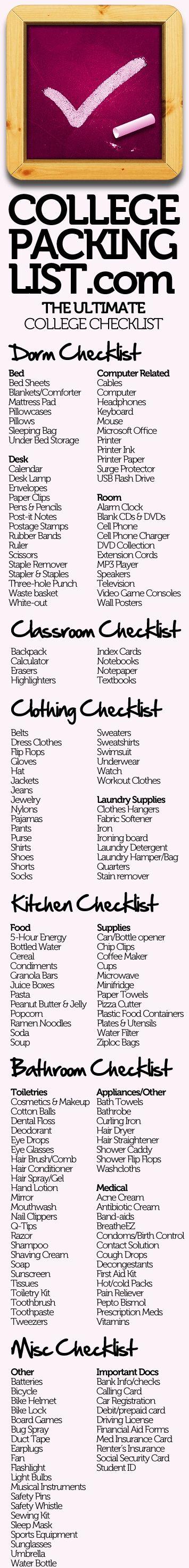 college checklist college checklist college checklist