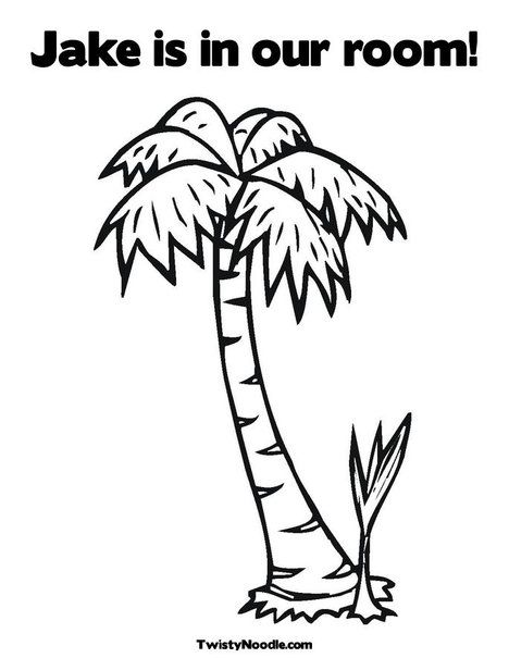 Personalized Chicka Chicka Boom Boom Palm Tree Coloring Page From