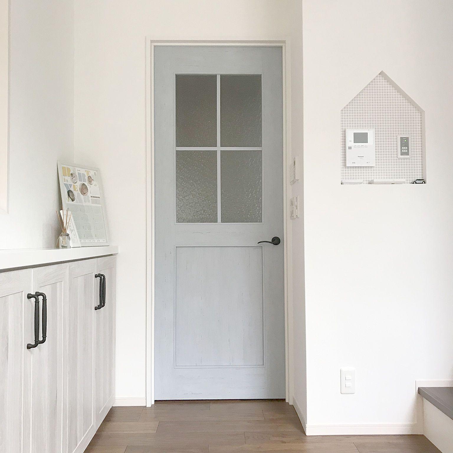 玄関 入り口 Lixil ペニンシュラキッチン リシェルsi ホワイトオーク