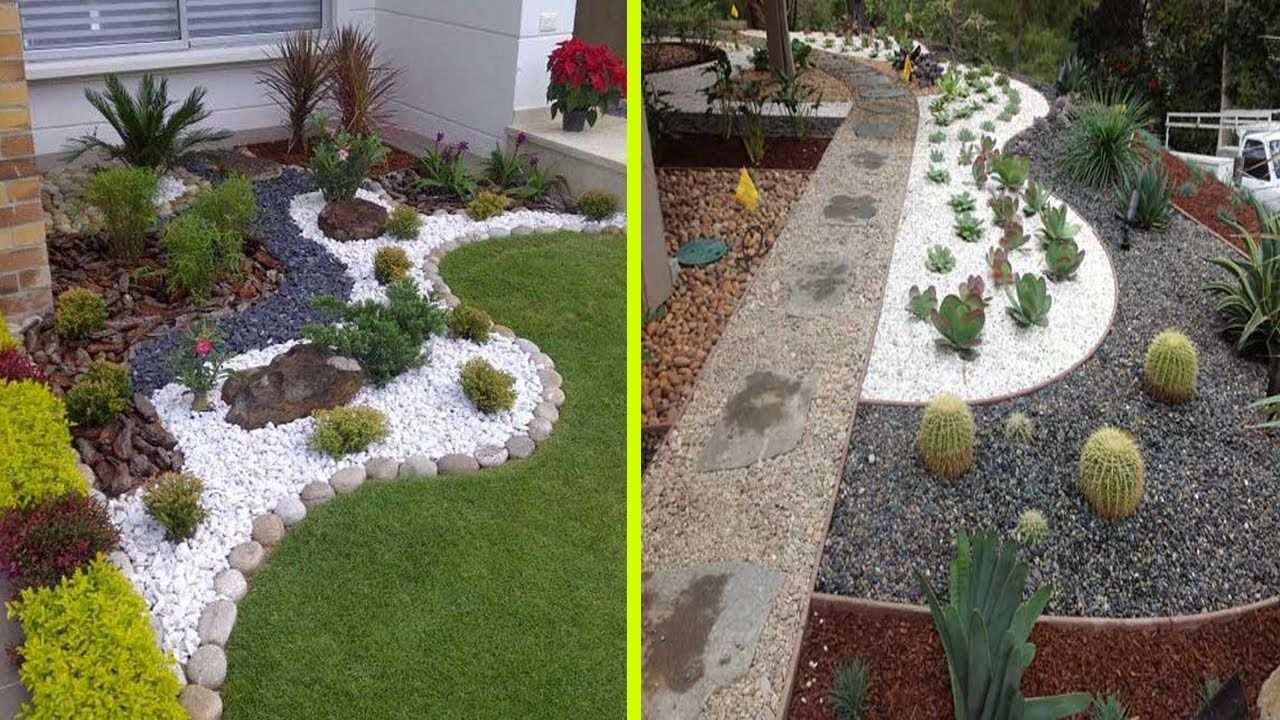 Cool White Gravel Decoration Ideas Stone And Rock Garden Decoration Ideas Landscaping With Rocks Gravel Landscaping Stone Landscaping