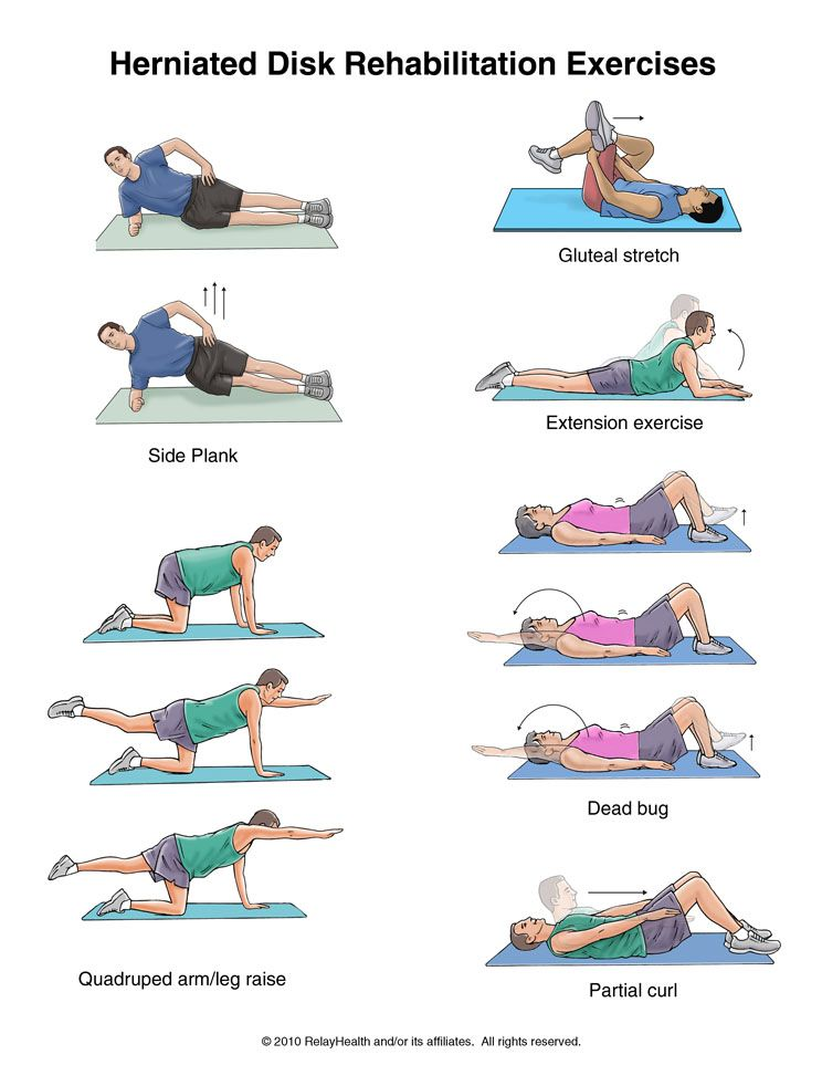 Herniated Disk Exercises | Ejercicios de fisioterapia ...