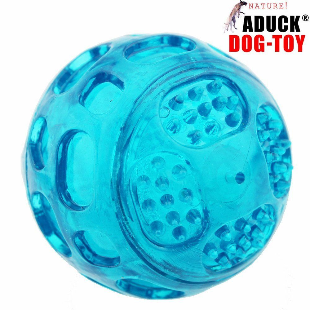 Aduck Pet Puppy Dog Squeaky Fetch Ball Toys Meteorites Bouncy