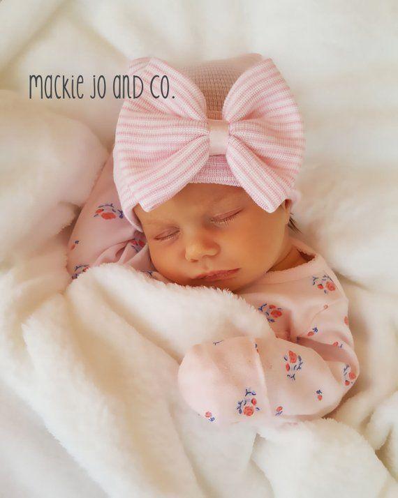 2d8d58410ce Newborn hospital baby girl cap BABY GIRL HAT baby girl newborn hat newborn  beanie hospital cap newbo