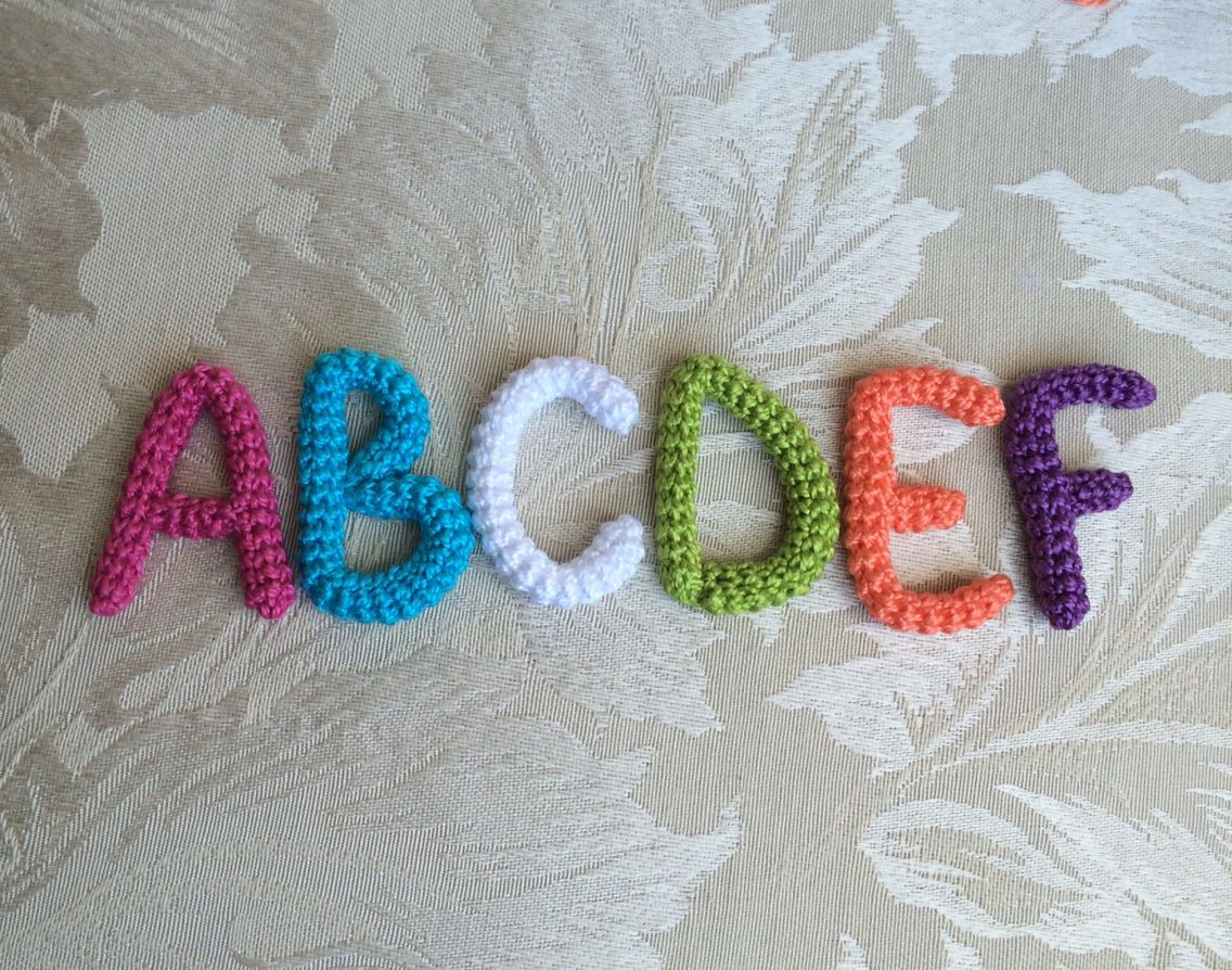 Crocheted alphabet   crochet alphabets   Pinterest   Ganchillo ...