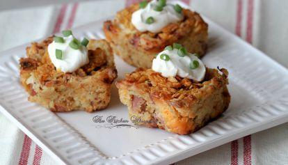 Crispy Omelet Potato Puff Breakfast Bars