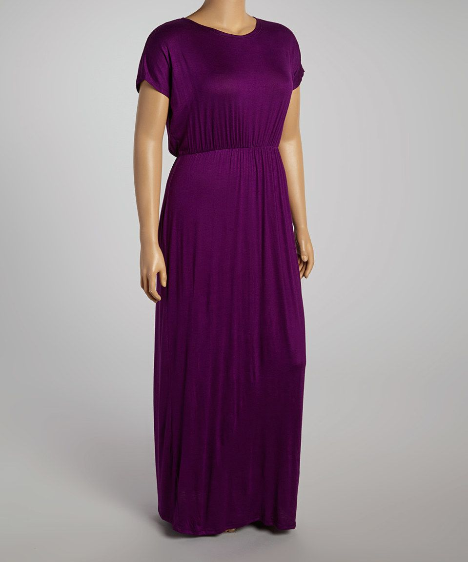 Purple maxi dress plus by glam zulily zulilyfinds curvy women