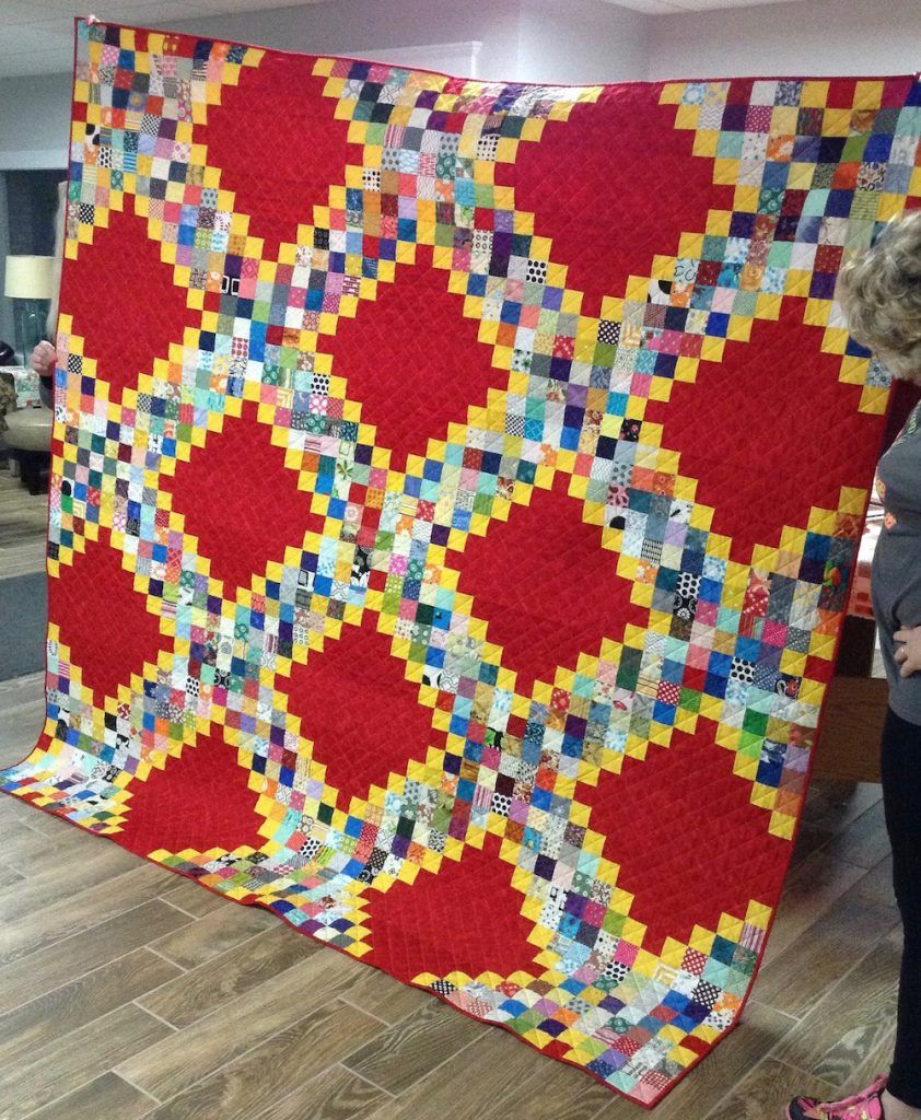 Mystery Quilt Reveal Prairie Moon Quilts Scrappy Irish Chain From Free Pattern Mystery Quilt Patterns Mystery Quilt Scrap Quilts