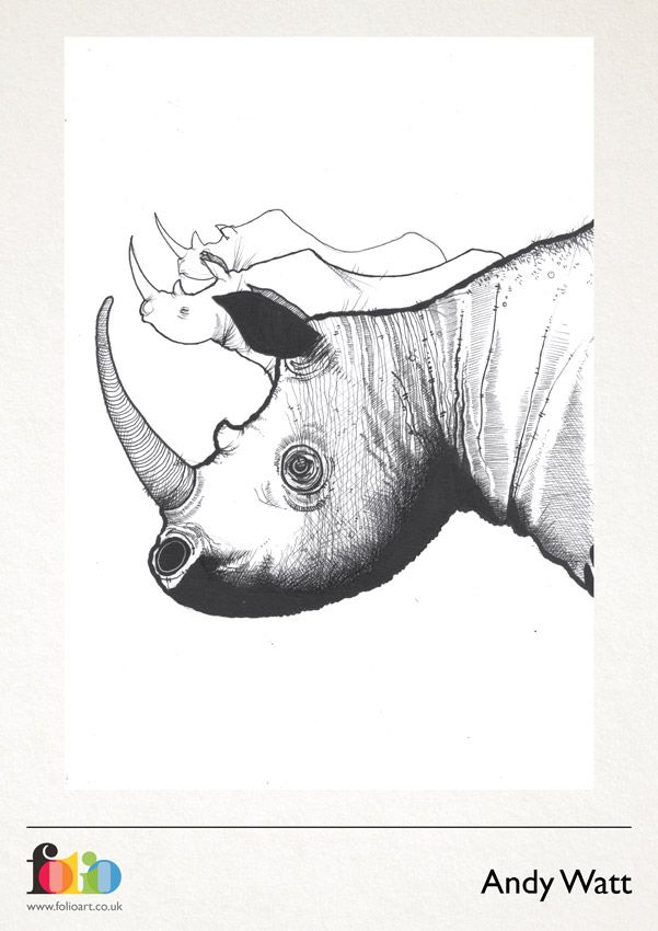 Andy Watt: www.folioart.co.uk/illustration/folio/artists/illustrator/andy-watt - Agency: www.folioart.co.uk - #illustration #art #digital #rhino