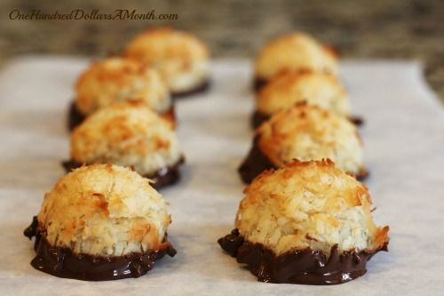 25 Days of Christmas Cookies - Chocolate Dipped Macaroons