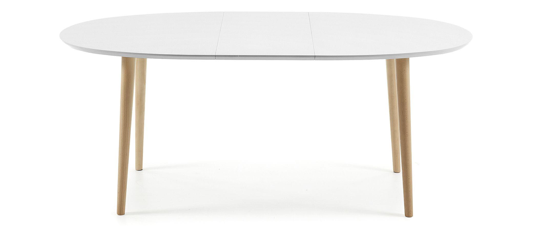 140 220 Extensible Et Oqui Naturel x90 Cm Table Blanc Ovale SMVqUpz
