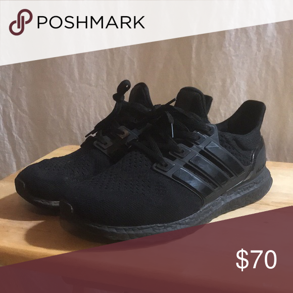 Adidas Ultra Boost 1 0 Triple Black With Images Adidas Ultra Boost Triple Black Adidas