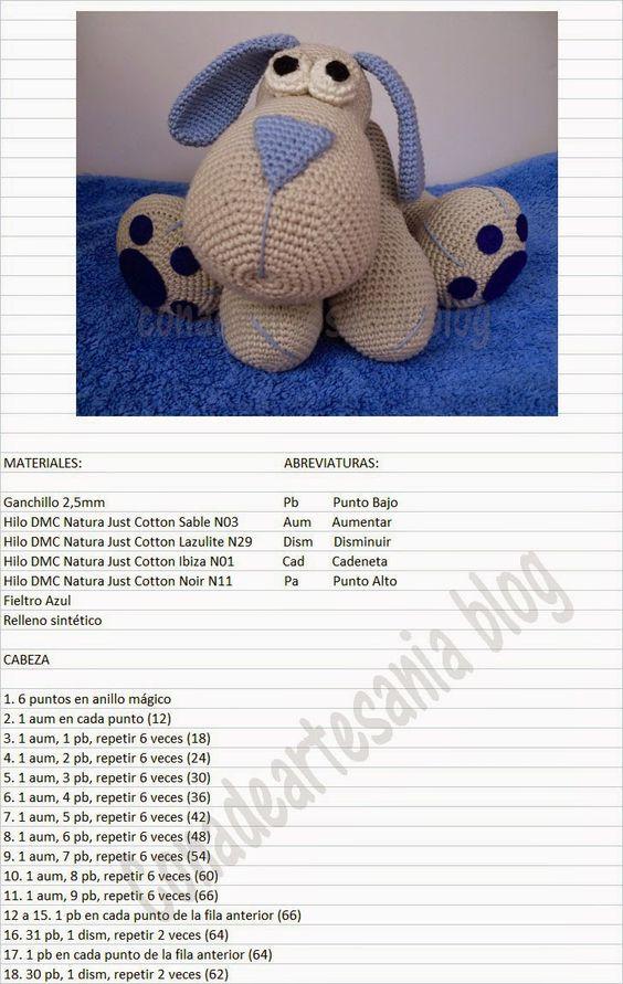 con A de artesanía: Amigurumi perrito Leopoldo | crochet animals ...