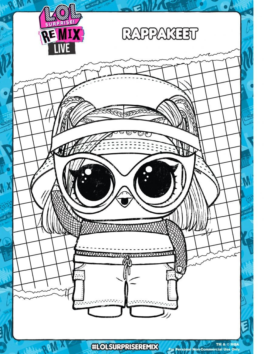 Lol Surprise Remix Coloring Pages And Activity Pages Youloveit Com Lol Dolls Coloring Pages Lol