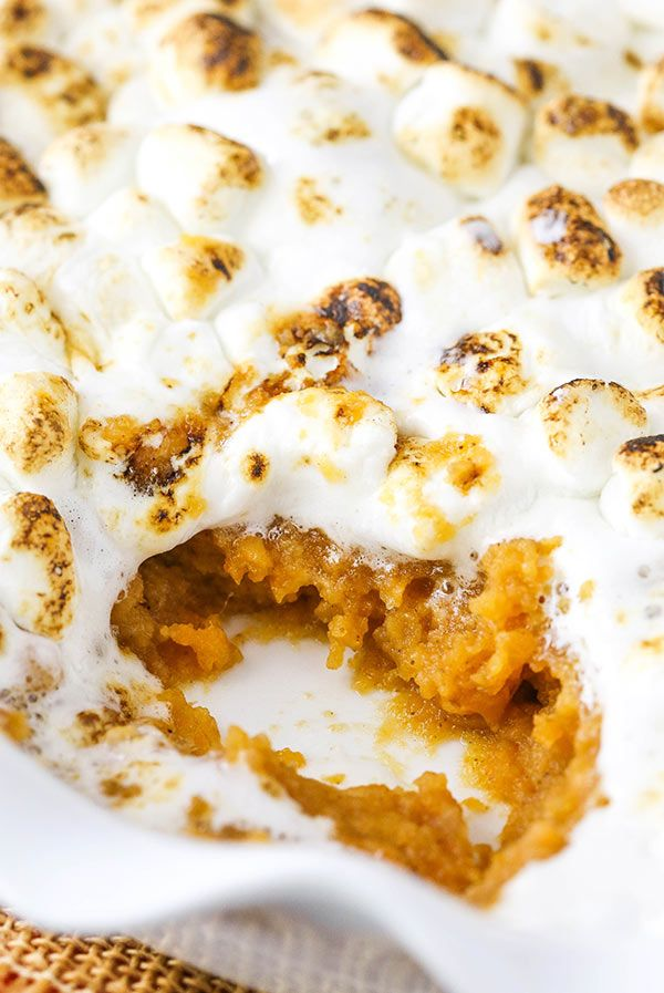Sweet Potato Casserole with Marshmallows (Nut Free Version!)