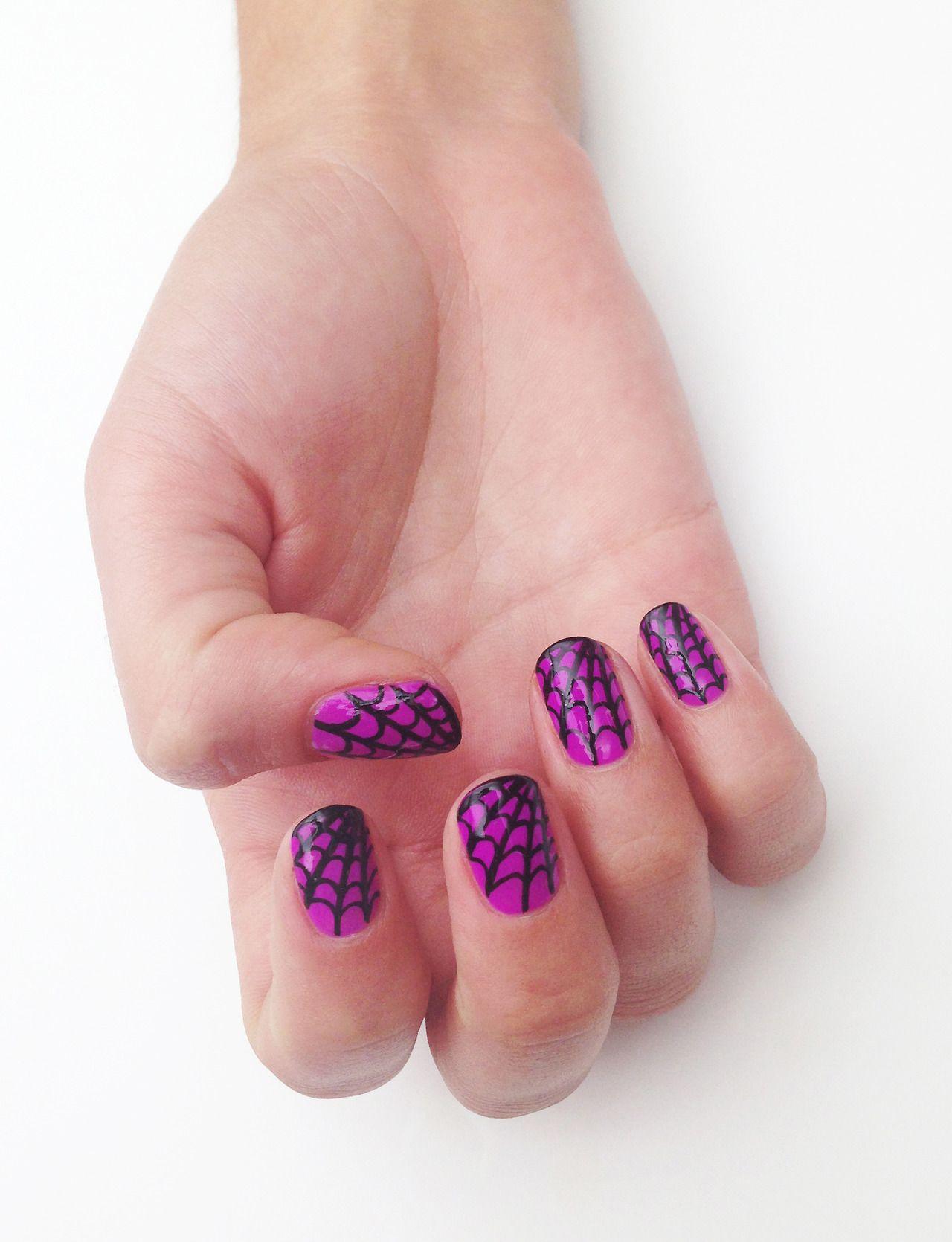 "theillustratednail: Cobweb nails for @ASOS.com.com Magazine ""Nail ..."