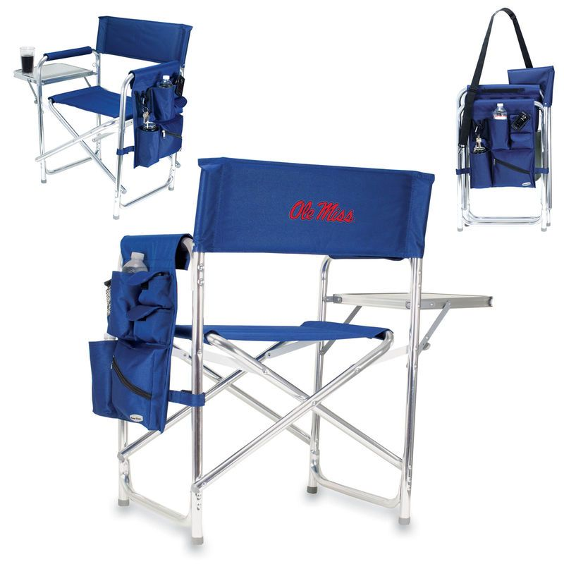 Ole Miss Rebels Sports Chair   Navy