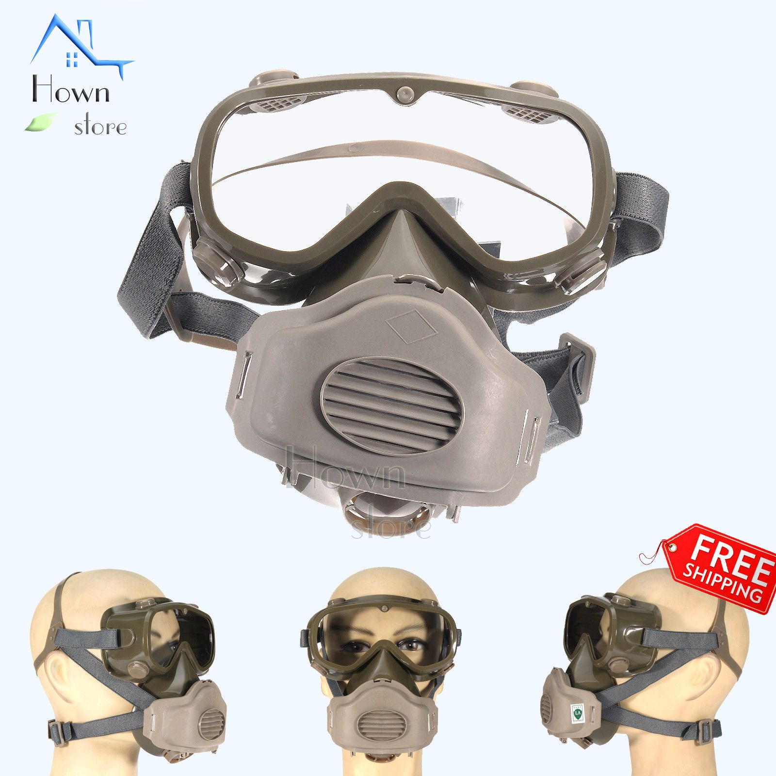 Hown Store Face Respirator Mask Reusable Protection Painting