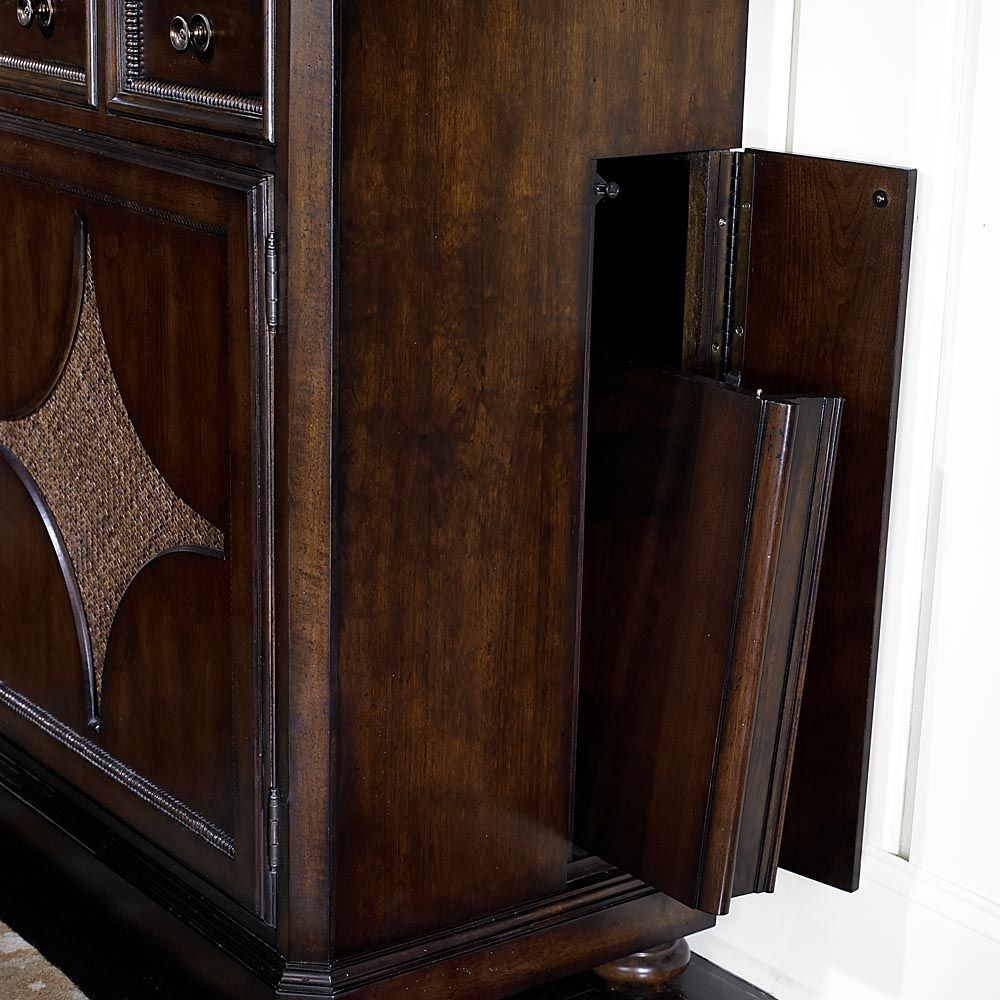 Moultrie Park China Cabinet By Bassett Furniture Features Concealed Table Leaf Storage Compartment