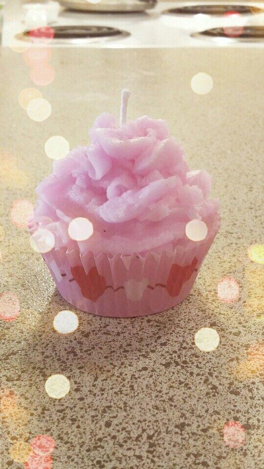 Homemade cupcake candle