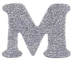 M Letter In Silver the letter m in...