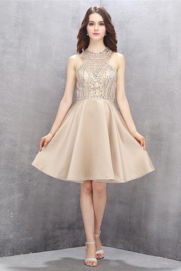 Prom Dresses Short, #shortpromdresses, Open Back Prom Dresses, Nice ...