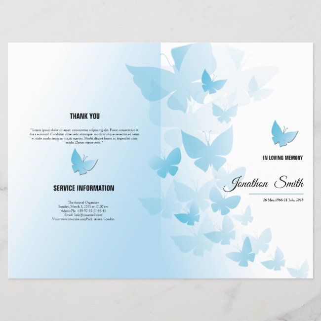 Funeral Brochure Template Worldwide shipping available