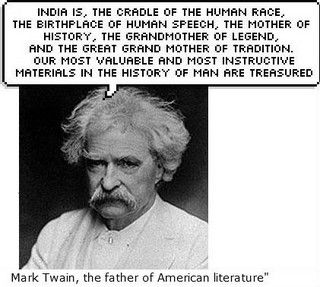 A famous quote by Mark Twain on India,\