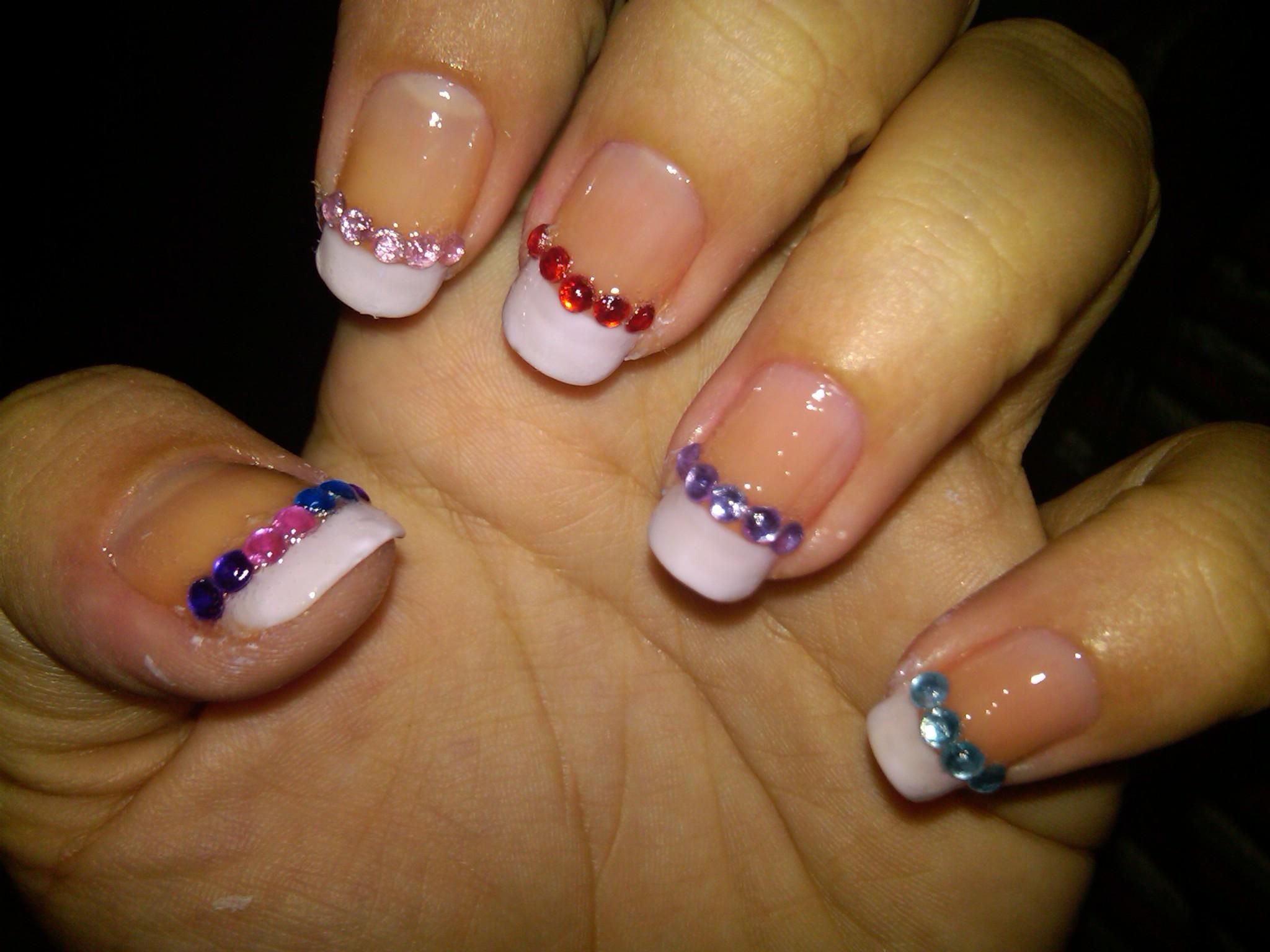 Colored Acrylic Nail Designs ... | Nail Designs | Pinterest ...