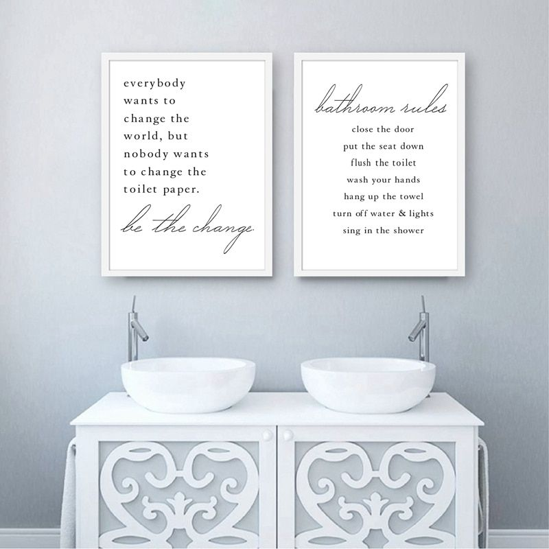 bathroom quote canvas posters and prints wall pictures