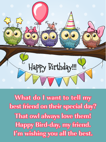 Featuring A Row Of Cute As Can Be Owl Friends And Fun Wordplay