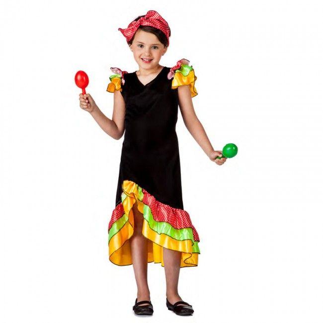 Disfraz de Rumbera Salsera para niña #disfraces #carnaval #novedades2017