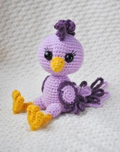 Kostenlose Häkelanleitung Für Vogel Amigurumi Häkeln Pinterest