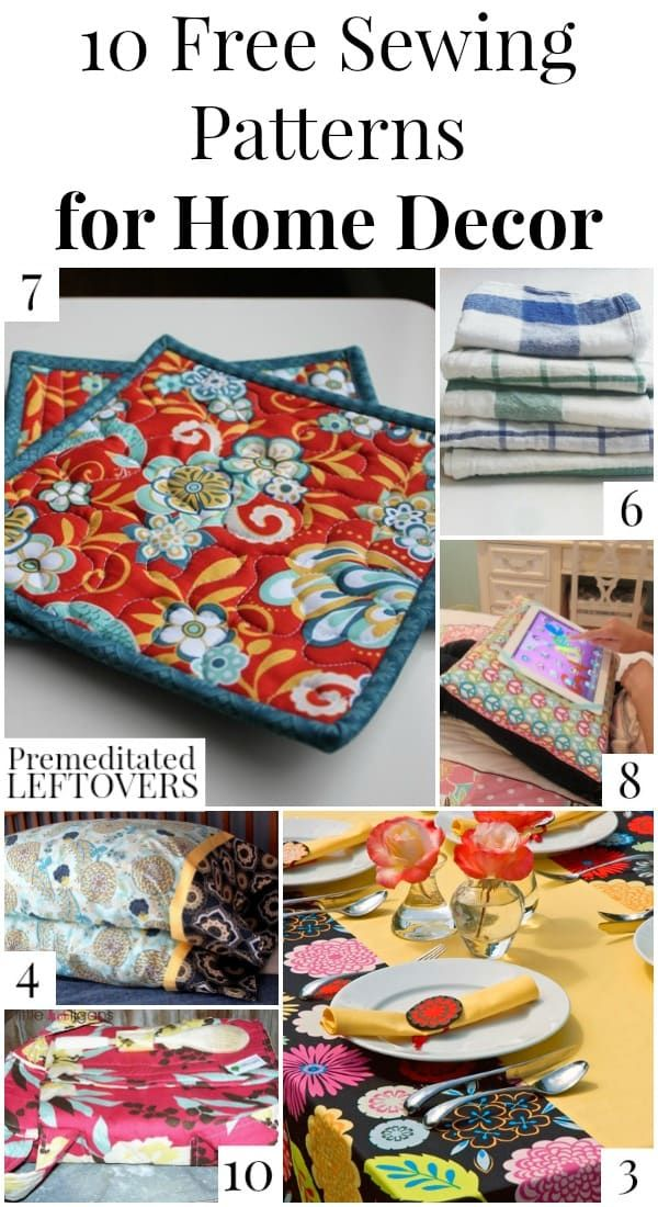 Looking For A Low Cost, DIY Upgrade To Your Home Decor? Check Out These 10  Free Home Decor Sewing Patterns For Inspiration! Sewing Idea And Design  Tutorial ...