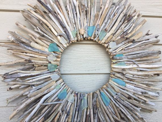 18 Driftwood Wreath With Sea Glass