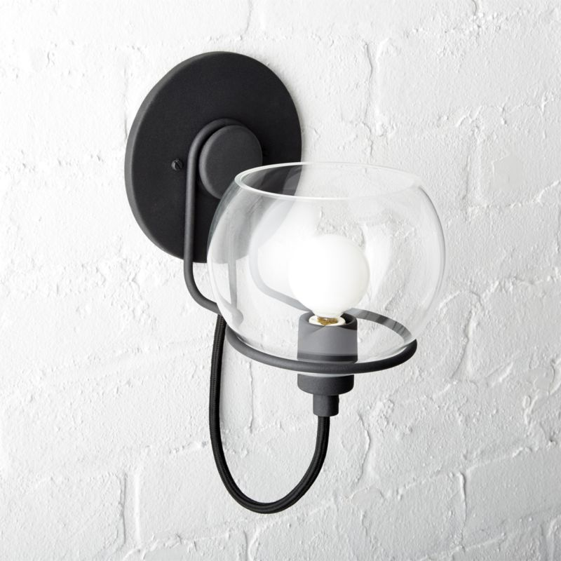 Shop Rest Clear Glass Black Wall Sconce A Contemporary Take On Italian Modern Design Glass W Traditional Wall Sconces Black Wall Sconce Modern Wall Sconces