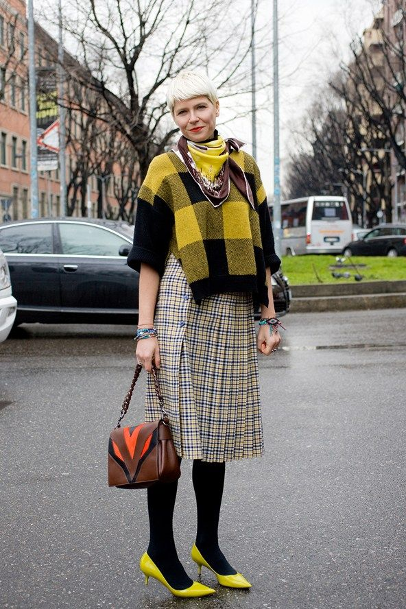 Stylist Elisa Nalin at Milan Fashion Week.