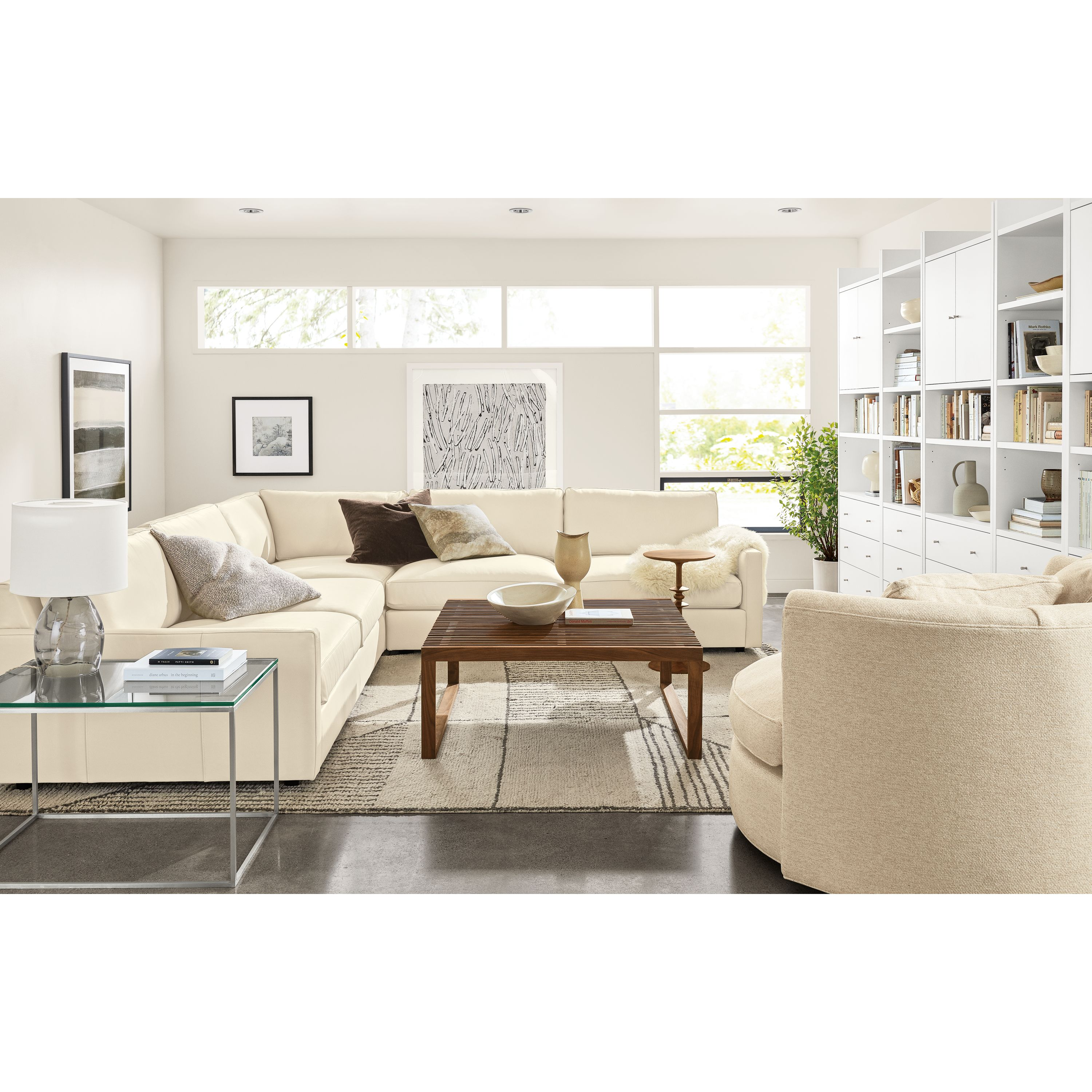 Valerie Francoise Watercolor 12 Modern Living Room Table Beige