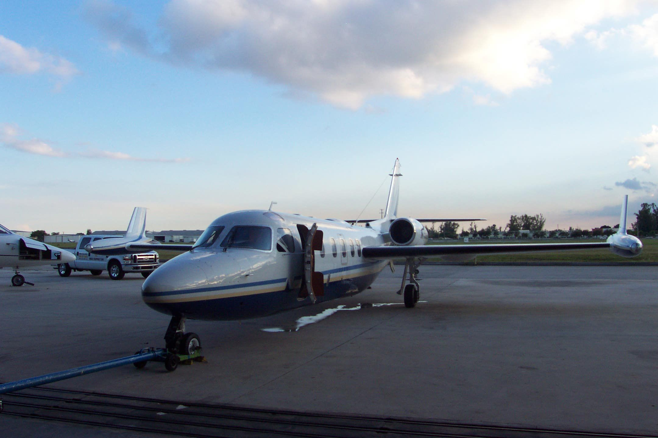 Preparing the Westwind Jet for the flight to Alabama