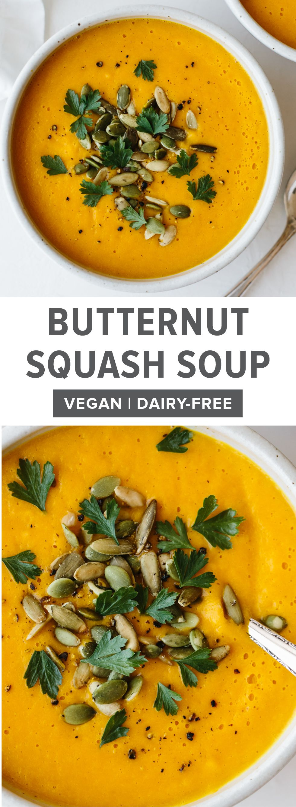 Roasted Butternut Squash Soup #butternutsquashsoup